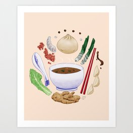 Dumpling Diagram Art Print