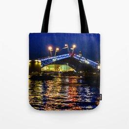 Raising bridges in St. Petersburg Tote Bag