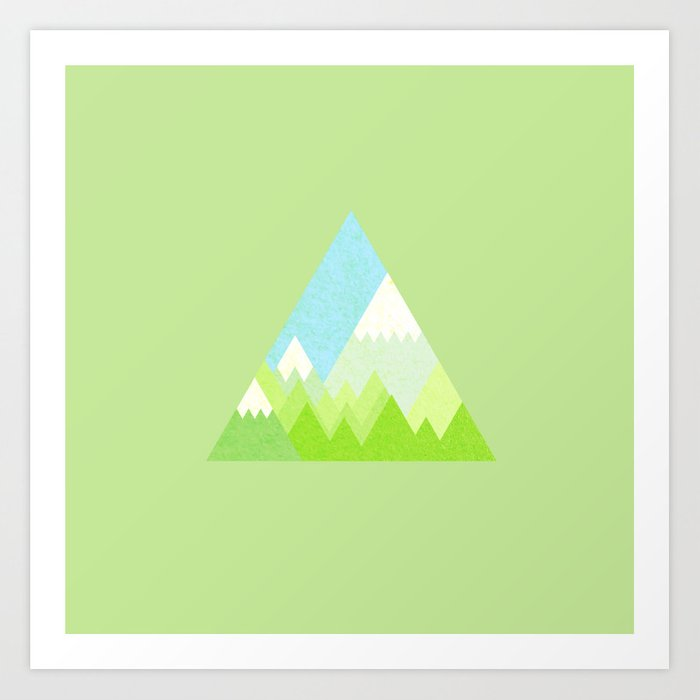 national park geometric pattern Art Print