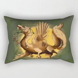 Bearded Wolf Dragon Rectangular Pillow