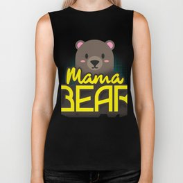 Mama Bear Mothers Day Gift - Shirt Biker Tank