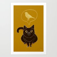 Guess What I Saw Today Art Print