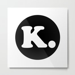 The Letter K. Metal Print