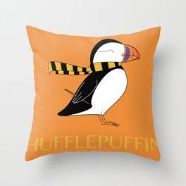 Hufflepuffin Throw Pillow