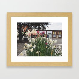 Flowers and Fish Framed Art Print