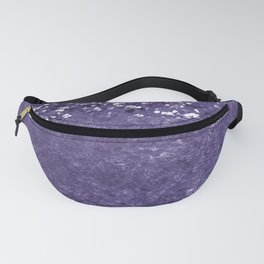 Ultra Violet Glitter Meets Ultra Violet Concrete #1 #decor #art #society6 Fanny Pack