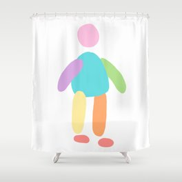 Rainbow Person Shower Curtain
