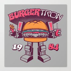 BurgerTRON '84 Canvas Print