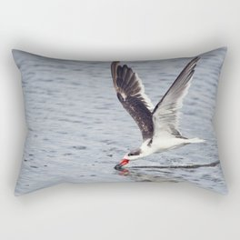 Black skimmer (Rynchops niger) feeding in Flight Rectangular Pillow