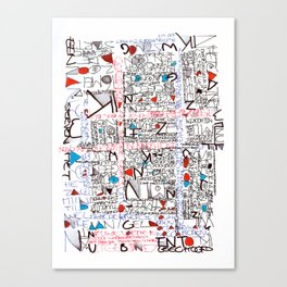 2002 - Thoughts In Rotterdam (High Res) Canvas Print