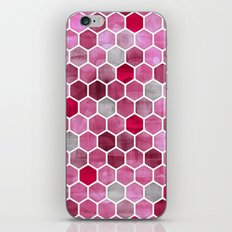 Pink Ink - watercolor hexagon pattern iPhone & iPod Skin