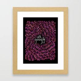 I don't know, Google it - Burgundy on Black Framed Art Print