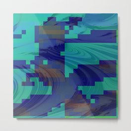 Waves abstract 1 Metal Print
