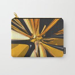 Black And Gold 3D Abstract Carry-All Pouch