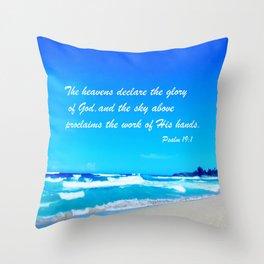 Psalm 19 Throw Pillow