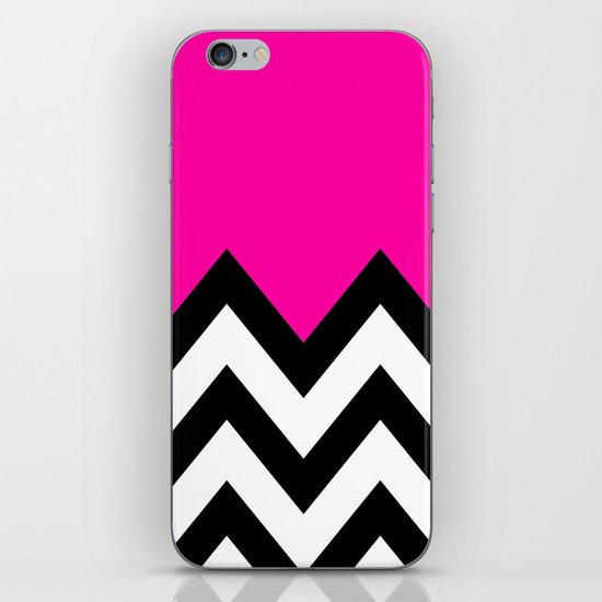PINK COLORBLOCK CHEVRON iPhone & iPod Skin