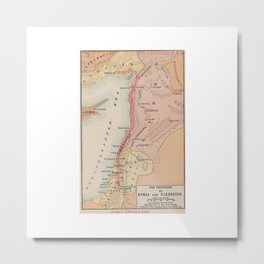 Map of Saint Barnabas and Pauls Journeys in Syria and Palestine Metal Print