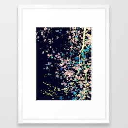 Nature Pattern # 4 - Birch (Blue) Framed Art Print