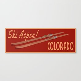 Ski Aspen Colorado Canvas Print