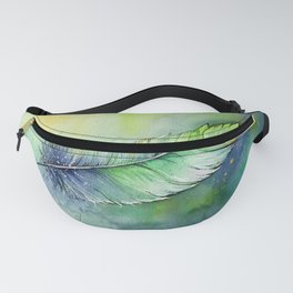 Quill Feather Watercolor Fanny Pack