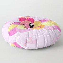 Rosy Maple Moth Floor Pillow