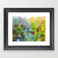 Abstract Grassy Field Framed Art Print