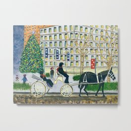 Carriage Ride on Woodward Avenue Metal Print