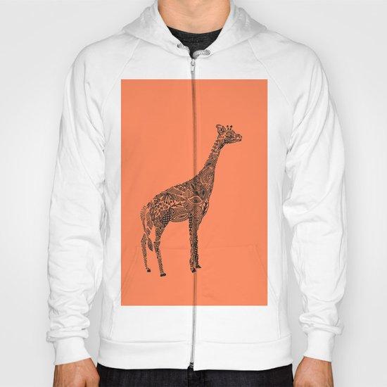 Designer Giraffe Coral Hoody