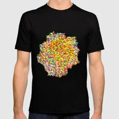 color space MEDIUM Black Mens Fitted Tee