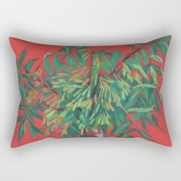 Ash-tree, red and  green Rectangular Pillow