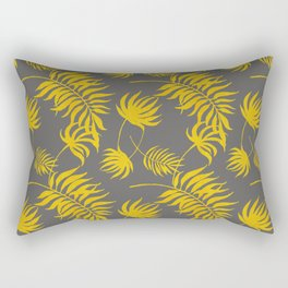 Luxury Gold Leaf on Charcoal Rectangular Pillow