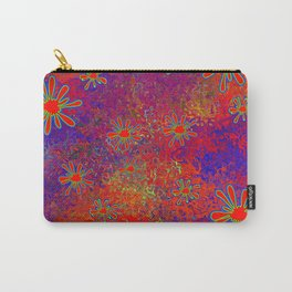 Splats and Blobs in Red Comic Pop-Art Carry-All Pouch