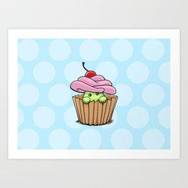 Cupcake Fluff Art Print