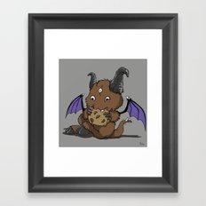 Cookie Nomster Framed Art Print