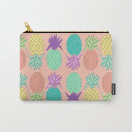 pineapple small coral Carry-All Pouch