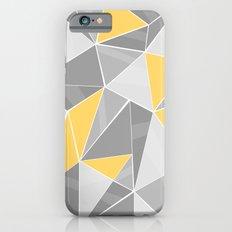 Pattern, grey - yellow iPhone 6s Slim Case