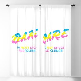 DARE 90s drugs Blackout Curtain