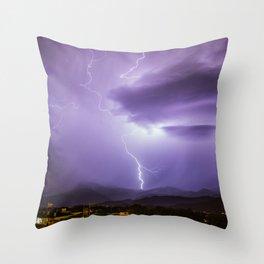 Lightning in Olot Throw Pillow