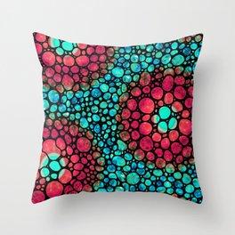 Mystic Circle Mosaic Art - by Sharon Cummings Throw Pillow