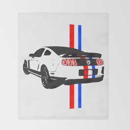 2013 Mustang Throw Blanket
