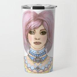Pink bunny girl Travel Mug