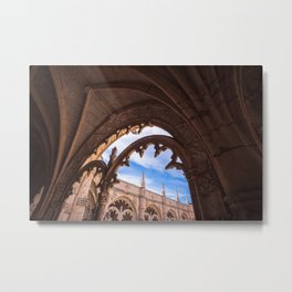 Cloisters of Jeronimos Monastery in Lisbon, Portugal Metal Print