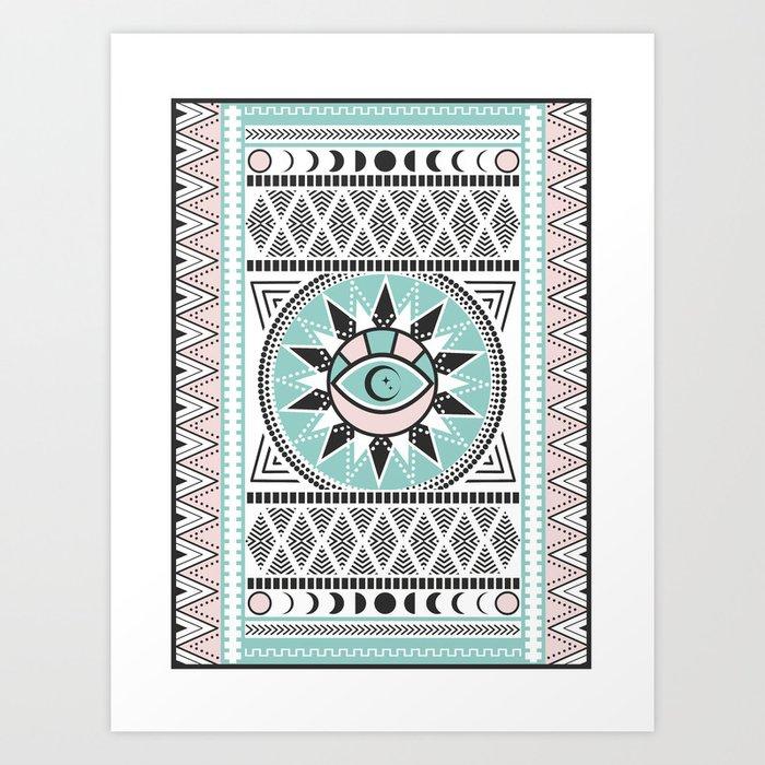 Indie Theme with Black Art Print