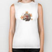 ferret Biker Tanks featuring Little Ferret by morteraphan