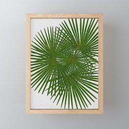 Fan Palm, Tropical Decor Framed Mini Art Print