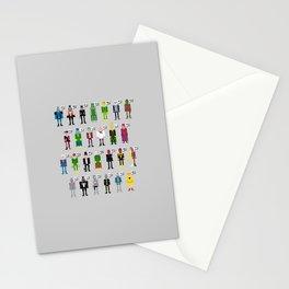 Pixel Supervillain Alphabet Stationery Cards