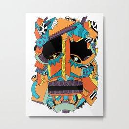 Illusion Mask Metal Print