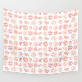 Paloma Grapefruit White Wall Tapestry