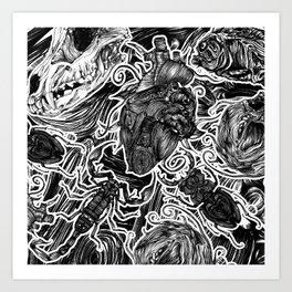 Beating Heart Art Print