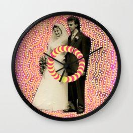 Run Bride Run Wall Clock